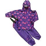 CELAVI Mädchen Regenmantel Rainwear Suit W.Elephant Print, Violett, 70 Cm...