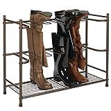 mDesign Stiefelaufbewahrung – Regal zum Stiefel und Schuhe aufhängen – platzsparendes...